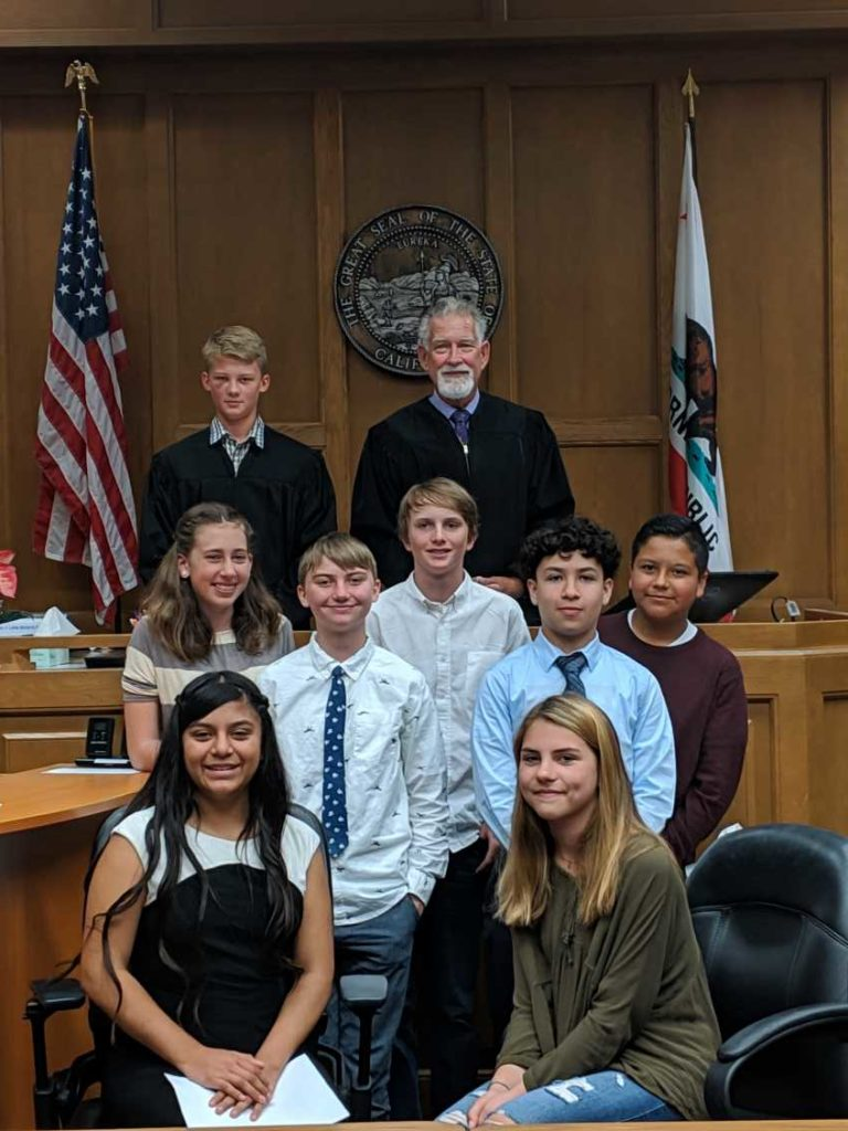 BV students visit the Motnerey Country Superior Court.